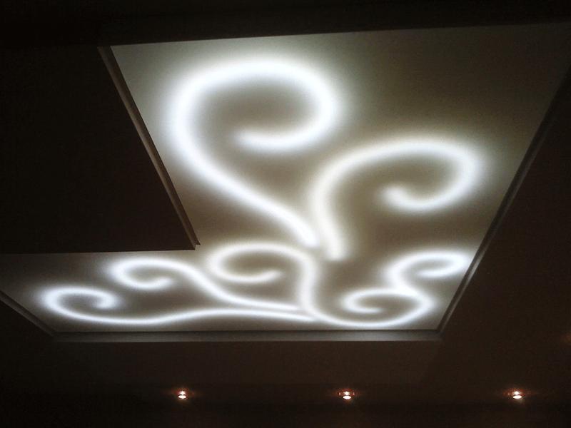 Как сделать внутреннюю подсветку в потолке